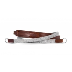 Neck strap lifestyle leather / fabric, grey